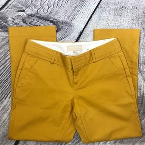 Banana Republic Mustard Yellow Martin Fit Pants